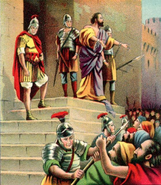 Acts 22: Paul's Defense at Jerusalem.