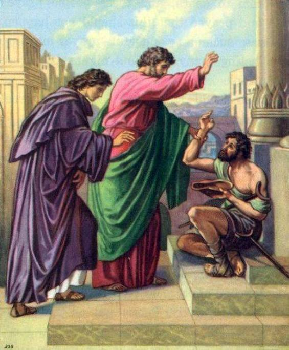 Acts 3: With GOD's Power Peter and John Healed a Lame Man, and Peter Preached the Gospel of the Lord Jesus Christ to the People.