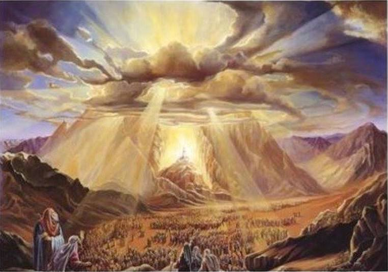 Exodus 24: Moses and the Elders Went to Mount Sinai to Meet with God.