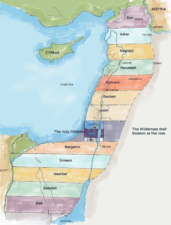 Ezekiel 48: The Boundaries and the Divisions of the Land of Israel During the Millennial Reign, and Eternity With GOD.