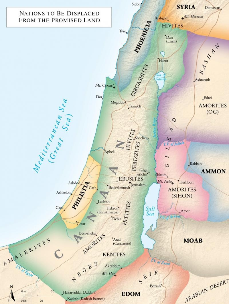 Joshua 14 – The Land West of the Jordan; Hebron was Given to Celeb