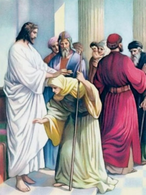 Luke 13c – Jesus Healed a Woman Who Had a Spirit of Infirmity and Was Bent Over