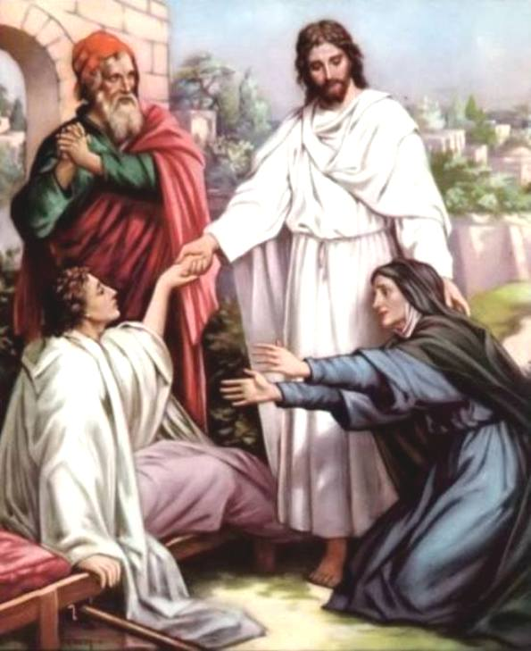 Luke 7b: Jesus Raised a Dead Son of the Widow from the City of Nain Back to Life.
