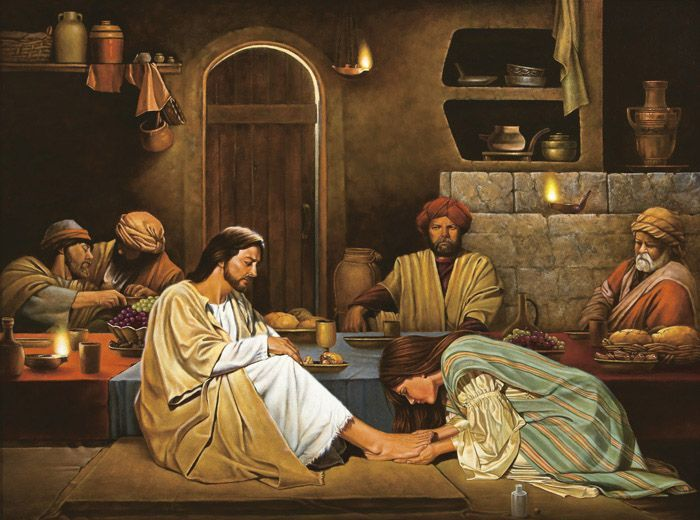 Luke 7d: Jesus Was Invited to a Dinner, Jesus Went and Dined at a Pharisee's House, and a Woman Came and Wept at Jesus' Feet.