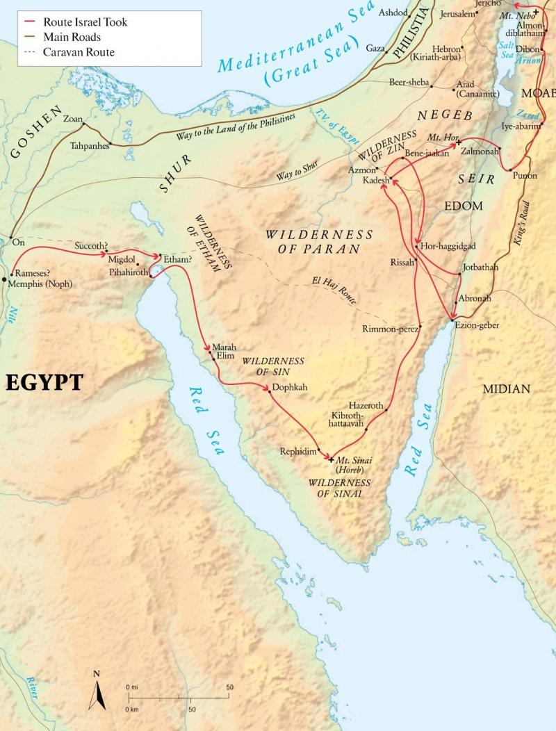 Numbers 33 – The Wilderness Journeys of Israel